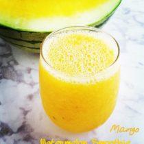 mango watermlon smoothie