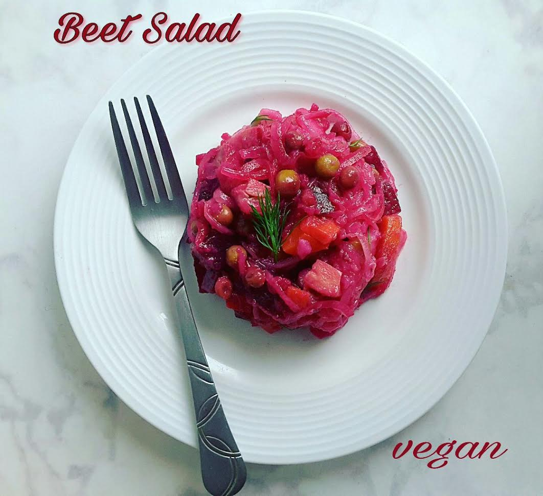 "Beet Salad aka Russian ""Vinegret"" - Cooking My Pounds Off"